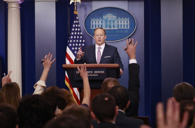 To find leaks, Press Secretary Sean Spicer trusts no one — not even his own staff